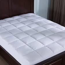 thick mattress topper. 2 Inch Thick 100% Cotton Hypoallergenic Down Alternative Mattress Topper -  White Thick Mattress Topper P