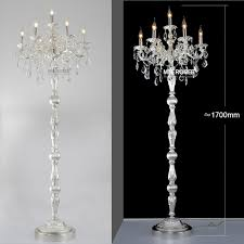 modern crystal floor lamp res floor stand light fixture cristal silver candelabra standing lamp high quality lighting in floor lamps from lights