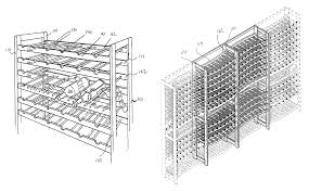 Wine Bottle Storage Angle Patent Us8276769 Wine Rack Google Patents