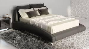 Black leather bed frame King Size Pinterest Cadillac Black Leather Platform Bed By Zuri Furniture Zuri Furniture