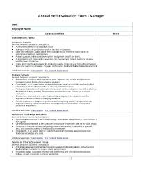 Sample Annual Evaluation Form Templates Self Employee Samples ...