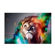 Modern Bedroom Wall Art Enchanting Amazon TOOGOOR HD Colourful Lion King Painting Prints On