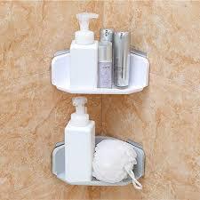 ics shower shelves for room 2pcs er plastic suction cup kitchen corner storage in the