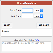 Hours To Minutes Chart Hours Calculator