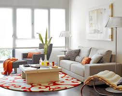 Modern Area Rugs For Living Room Modern Living Room With Round Coffee Table And Round Area Rug