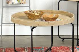 metal and wood coffee table round metal and wood coffee tables sunken top coffee