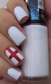 England Flag Nail Designs Simple And Bright England Nails St George Would Be Proud