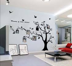 large photo frame family tree wall art stickers decoration with inside vinyl wall decal trees ideas