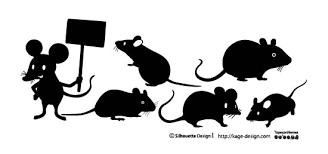 ネズミのベクターデータ シルエットデザイン