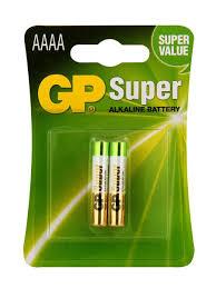 Алкалиновые батарейки Super Alkaline 25А АААA 2 шт. GP ...