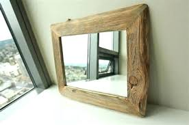 rustic wood mirror frame. Reclaimed Wood Picture Frames Rustic Mirror Frame