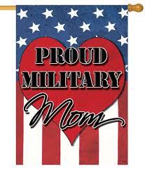 proud military mom house flag