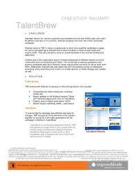 Case Study Walmart Talentbrew Tmp Worldwide