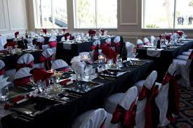 wedding reception nas pensacola black and red linens officers club nas pensacola wedding reception table linens