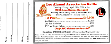 Banquet Tickets Sample Leo Alumni Association Raffle Tickets Available At The Banquet