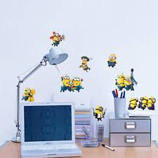 fange stickers diy cartoon removable minions deable me 2 art
