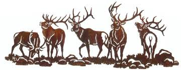 large metal wildlife wall art