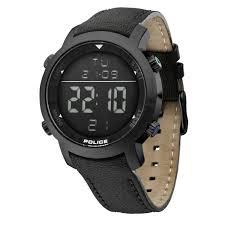 police men s cyber digital watch 12898js 02d black strap 12898js