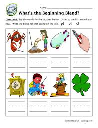 Phonics printable worksheets and activities (word families). Blends Worksheets Have Fun Teaching