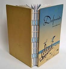upcycled blank ocean book repurposed old book journal driftwood recycled wedding guest book