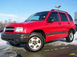 2002 Wildfire Red Chevrolet Tracker 4WD Hard Top #2974056 ...