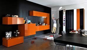 modern orange furniture. modular orange kitchen modern furniture