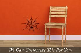Wall Decor Sticker Spider Web With Spider For Halloween A Wall Decor Vinyl Decal