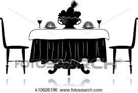 restaurant table clipart. Beautiful Table Clip Art  Restaurant Little Table Fotosearch Search Clipart  Illustration Posters Drawings On Table Clipart E