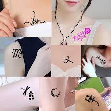 2019 1 шт метла ведьма дизайн маленькая хна тату трафарет Diy краска для тела