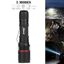Police Tactical Light Skywolfeye 8000 Lm Led Flashlight Tactical Police Torch 5 Modes Waterproof Mini Light Lamp Lantern 18650 Battery