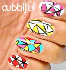 cubbiful: Colourful Mosaic Nail Art