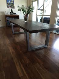 raw edge dining table. A Highly Durable Protective Coating Raw Edge Dining Table