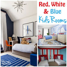 Ideas For Red, White and Blue Kids Rooms