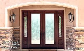 glass double front door. Exterior Front Doors With Glass Double Sandblasted Contemporary Style Rain Patterned Rustic Door