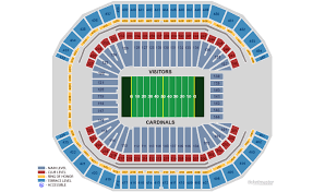 Cardinals Stadium Seating Chart Arizona Arizona Cardinals Home Schedule 2019 Seating Chart