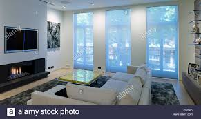 Living Room Uk Frosted Glass Windows In Living Room Of Chelsea Apartment London