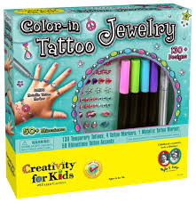 Amazon.com: Creativity for Kids Color-In Tattoo: Toys & Games