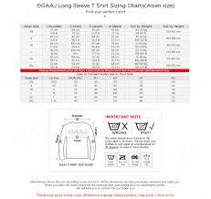 Mens And Womens Shirt Size Chart Us 18 99 Gaaj Custom Embroidery Print Logo Name T Shirt Long Sleeve For Mens Women Unisex Streetwear Clothing T Shirt Tee Drop Shipping In T Shirts