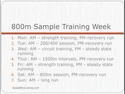 800 meter program