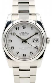 Rolex Datejust 116200 Men's 36mm White Arabic Stainless Steel Oyster