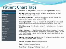 Patient Chart Tabs Lesson Four Accessing Demographics Summary Information