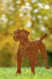 Details Zu Edelrost Hund Jack Zum Stecken 64x34cm Haustier Figur Wachhund Jack Russel