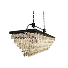 the weston 40 inch rectangular glass drop chandelier black