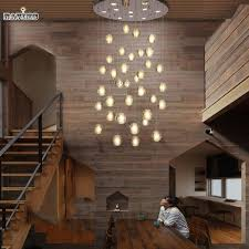 modern led crystal pendant lights fixtures magic crystal ball re loft stairwell 12 crystal light meteor shower crystal lamp plug in pendant