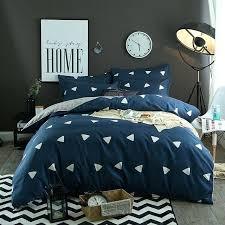 blue plaid quilt cotton bed sheet striped bedspread blue plaid bedding sets duvet cover set queen