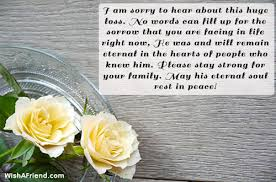 I Am Sorry To Hear About, Sympathy Message For Loss Of Father