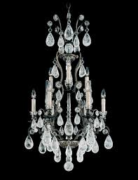 versailles rock crystal 9 light 110v chandelier in etruscan gold with clear rock crystal