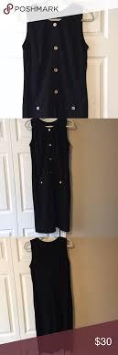 Talbots Dress Size Chart Talbots Black Dress With Buttons Medium 8 10 Talbots