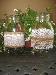 Mason Jar Decorations For Bridal Shower Wedding Burlap Lace Mason Jar Sleeves Wedding Shower Ideas With 41