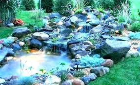 Relaxing garden backyard waterfalls Landscaping Ideas Pond Ponds With Waterfalls Pictures Waterfall Designs And Cloudreporterco Garden Ponds And Waterfalls Waterfall For Pond Landscape Stylish